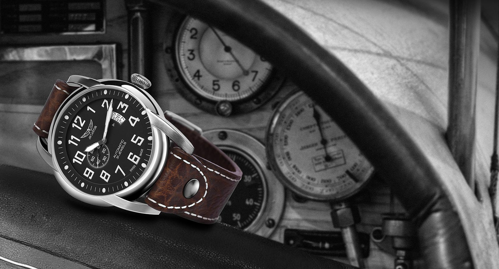 AVIATOR Watch Bristol Collection of Pilot Watches