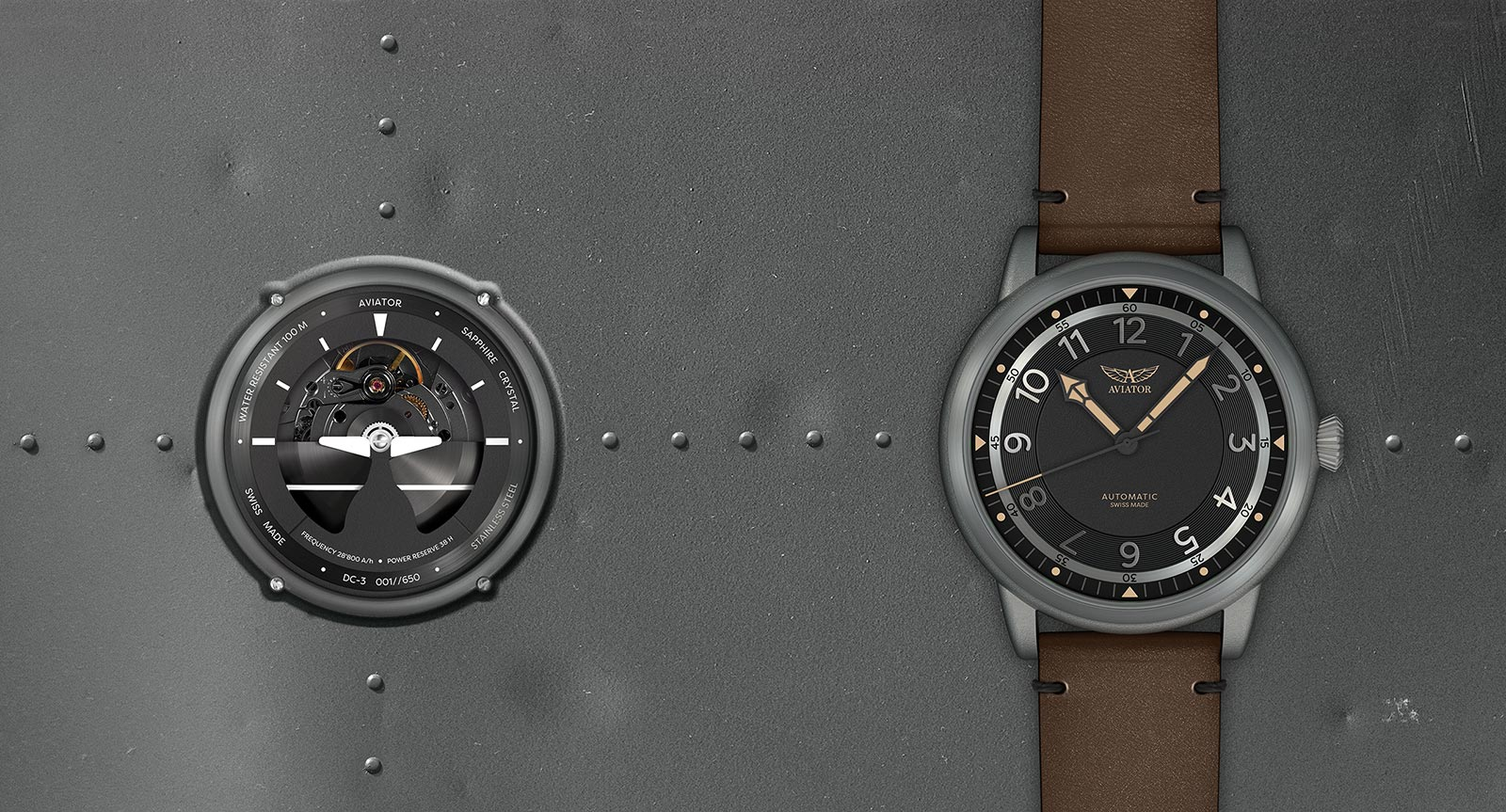 AVIATOR Watch Douglas Dakota Collection of Pilot Watches